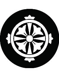 家紋シール 久留子紋 布タイプ 直径40mm 6枚セット NS4-0943
