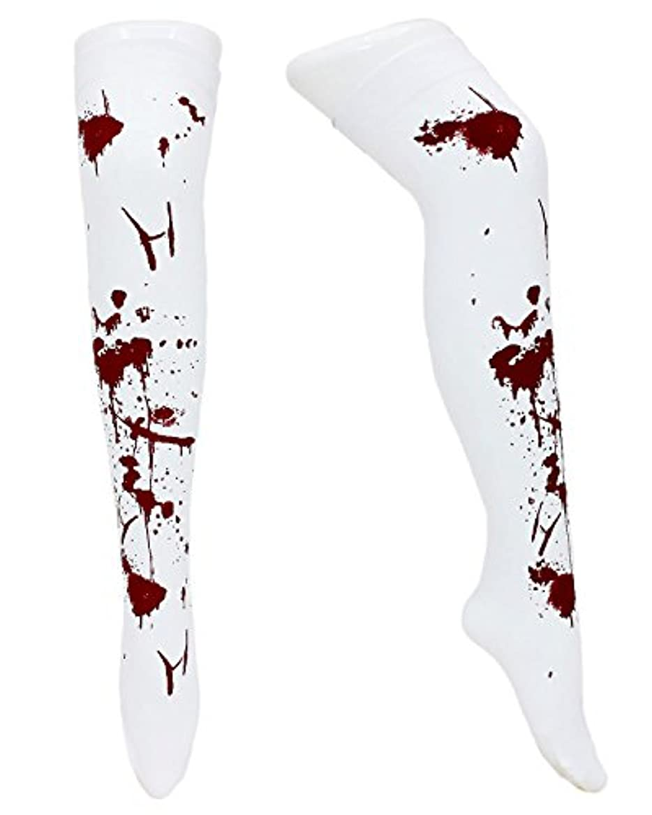 資産ブレーク宝石StyleCoS タイツ 血まみれ 靴下 ソックス 血しぶき ホラー 血のり コスプレ ハロウィン