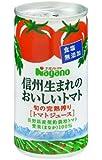 ナガノトマト 信州生まれのおいしいトマト 食塩無添加 190g缶×30本入×(2ケース)