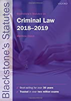 Blackstone's Statutes on Criminal Law, 2018-2019