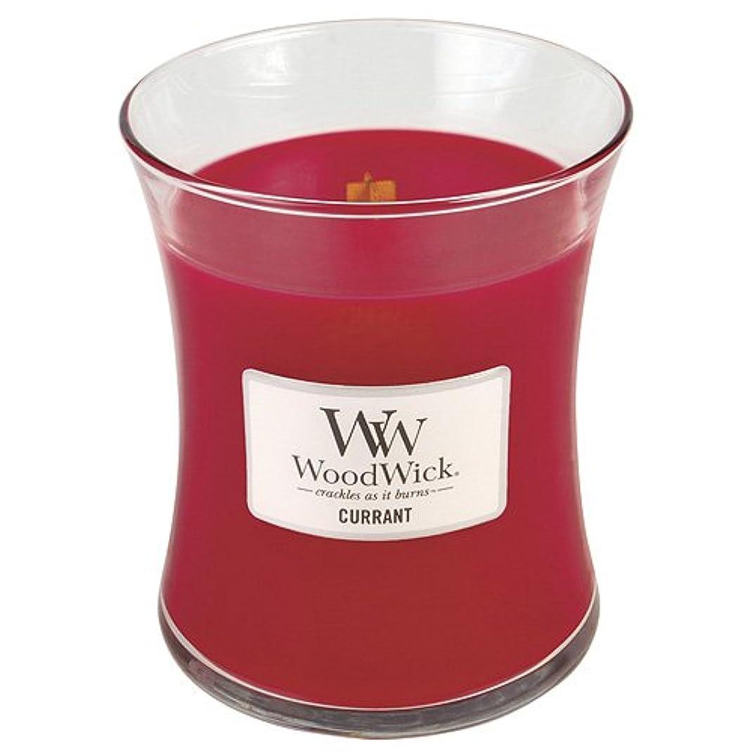 命令的トーナメント前奏曲Woodwick Candle Currant 10oz レッド 22408