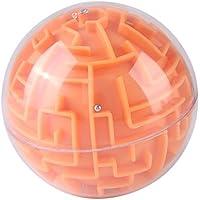 ボール 迷路ボール 子供迷路おもちゃ 子供インテリジェンスおもちゃ プラスチック製 耐久性 安全 軽量(オレンジ)