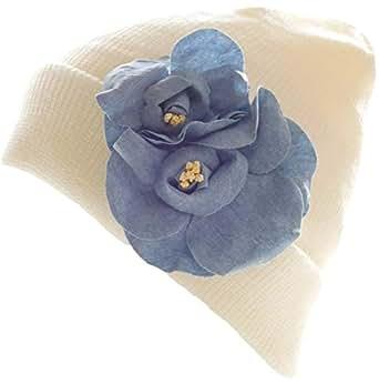 ニット帽 レディースニット帽 抗がん剤治療帽子 ケア帽子 治療用帽子 抗がん剤治療用帽子 レディースニット帽 可愛い お花コサージュ付き プリンセスのんの 通販