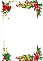 ポスター ウォールステッカー シール式ステッカー 飾り 89×127㎜ L版 写真 フォト 壁 インテリア おしゃれ 剥がせる wall sticker poster クリスマス リース リボン 009938