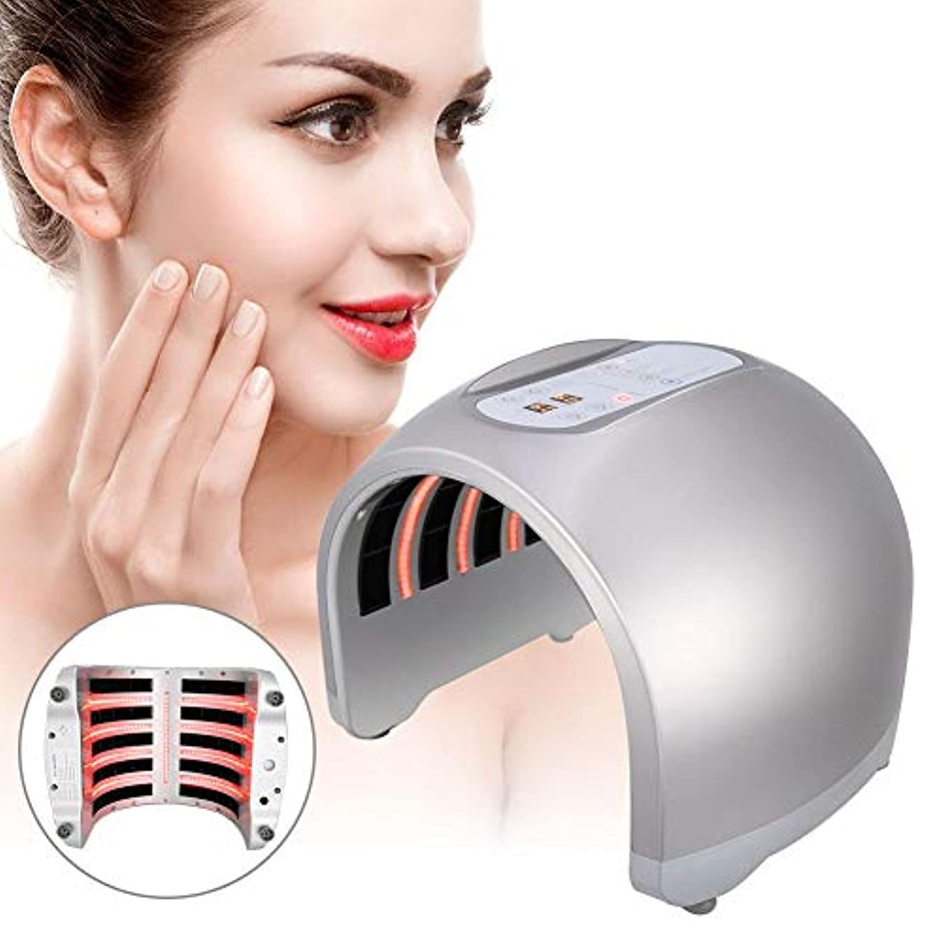 視聴者シャイニング差し引く肌の若返りLED機器-PDT 4色LEDライトフェイシャルボディスキンケア美容デバイス、しわを改善(米国のプラグ)