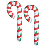 """2 JUMBO Inflatable CANDY CANES/44"""" CHRISTMAS Decor/DECORATIONS/FESTIVE Inflates"""