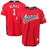 Majestic Majestic Ozzie Albies National League Red 2018 MLB All-Star Game Home Run Derby Player Jersey スポーツ用品 【並行輸入品】