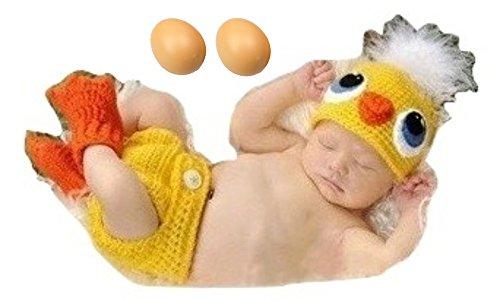 a0c3247f6e123a (イモクリコ) Imocrico 酉年だけどまだひよこ ベビー 着ぐるみ ひよこ 赤ちゃん 年賀状 撮影 酉年 にわとり (ひよこコスチューム セット+卵2個)