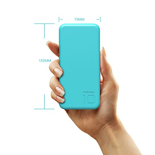 PURIDEA モバイルバッテリー 10000mAh ブルー