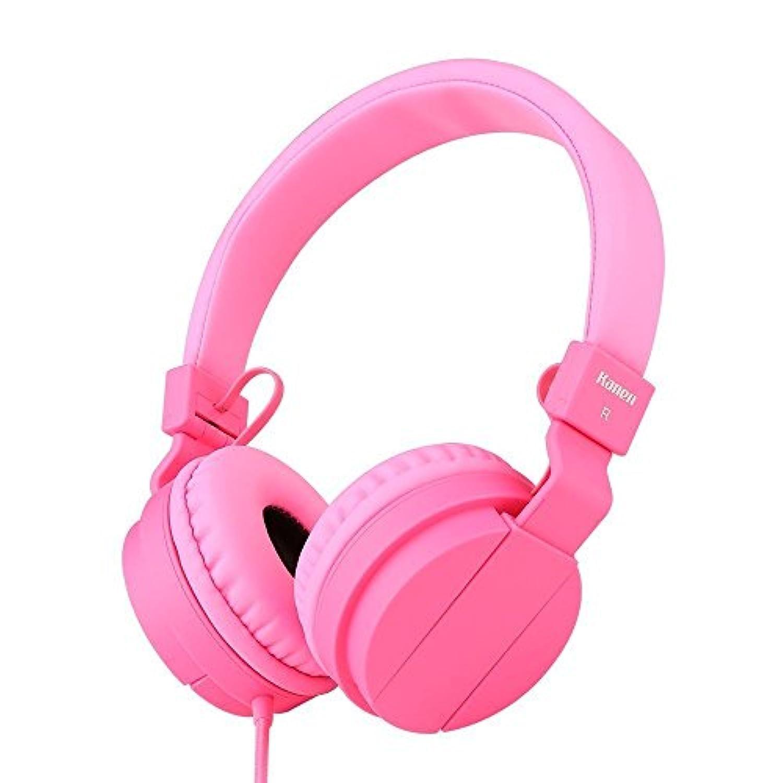 Kanen K95 ヘッドフォン 折り畳み式 ピンク