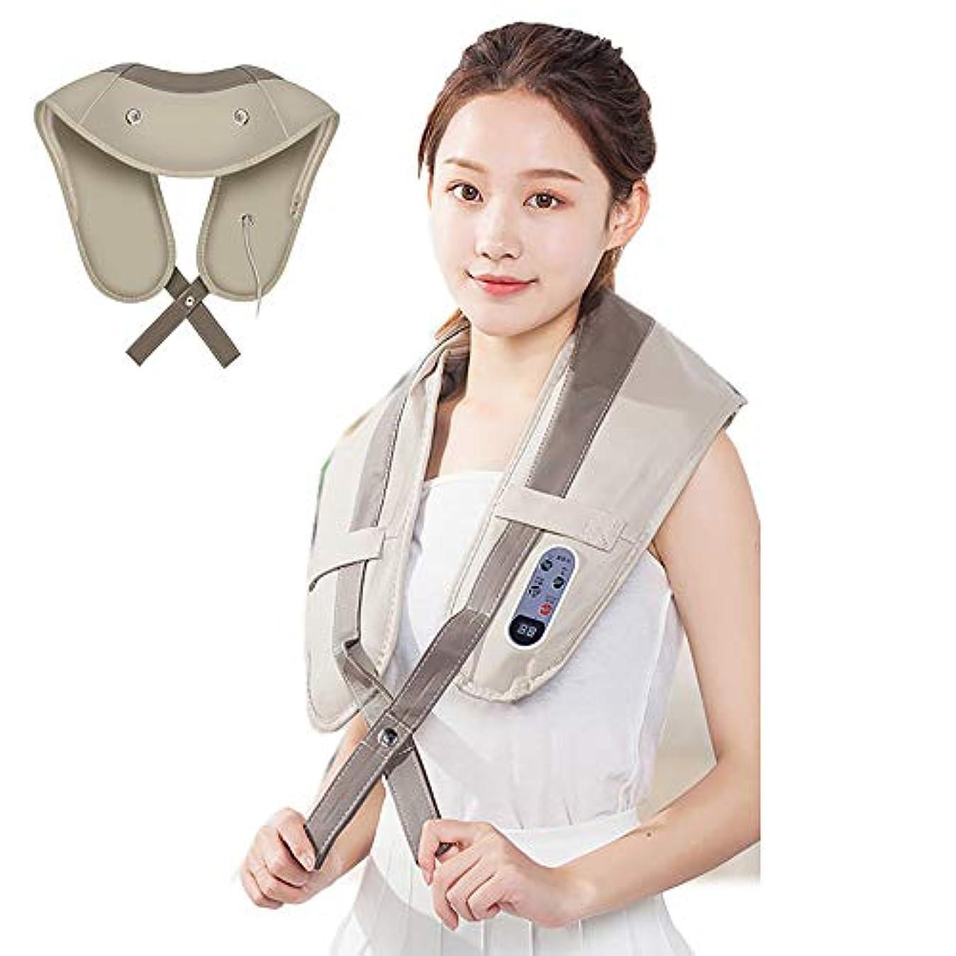 入場叫び声リー背中の痛みを軽減するための頸椎ウエストマッサージャーショール-肩のマッサージでポータブルバンギングピローバックマッサージャーベルト-フルボディマッサージャー