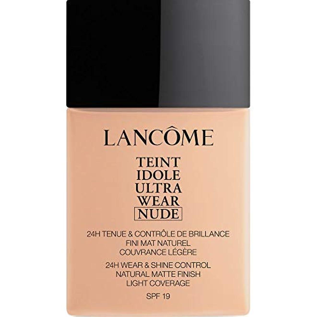 技術者気配りのある縮約[Lanc?me ] ランコムTeintのIdole超摩耗ヌード財団Spf19の40ミリリットル011 - ベージュCristallin - Lancome Teint Idole Ultra Wear Nude Foundation...
