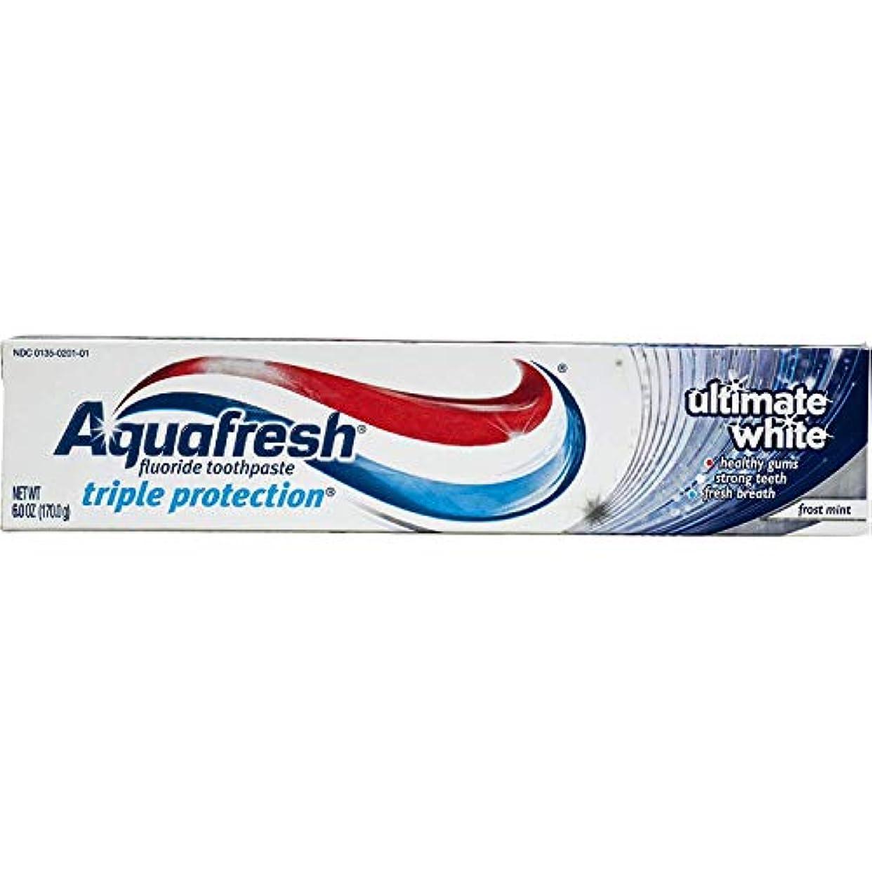 抗議ピストンシーボードAqua Fresh ULTホワイトサイズ6Zアクアフレッシュアルティメットホワイトハミガキ 2パック