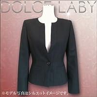 (ドルチェルビ) DOLCE LABY レディース スーツ ノーカラージャケット ジャケット 単品 のみ 生地:5.グレー バーズアイ(M26908/TK) 09号(M) 着丈50 袖丈57 半胴36.5 裏地:生地同色