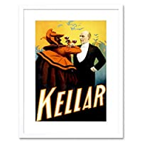 Kellar The Magician Vintage Advert Picture Framed Wall Art Print 魔術師ビンテージ広告画像壁