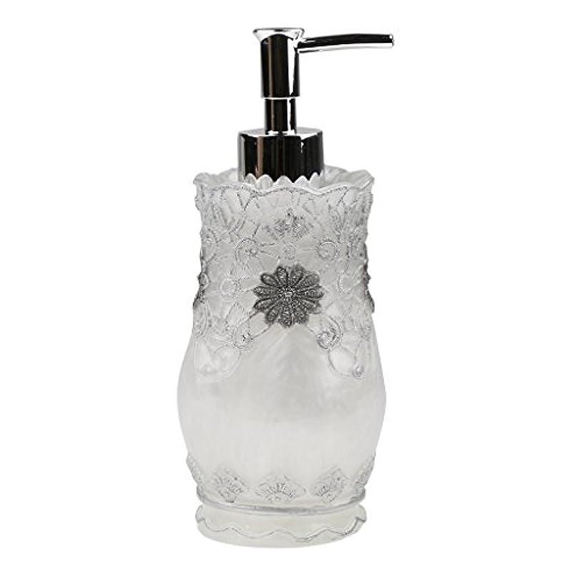 識別後偽善液体ソープ シャンプー用 空 シャンプー ボトル 詰め替えボトル 美しい エレガント デザイン 全4種類 - #2