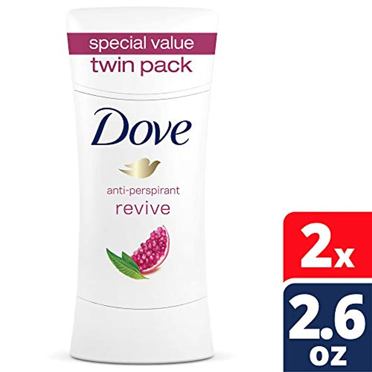 乱す群れ不倫2本セット Dove Advance Care Antiperspirant Deodorant, Revive, 74g