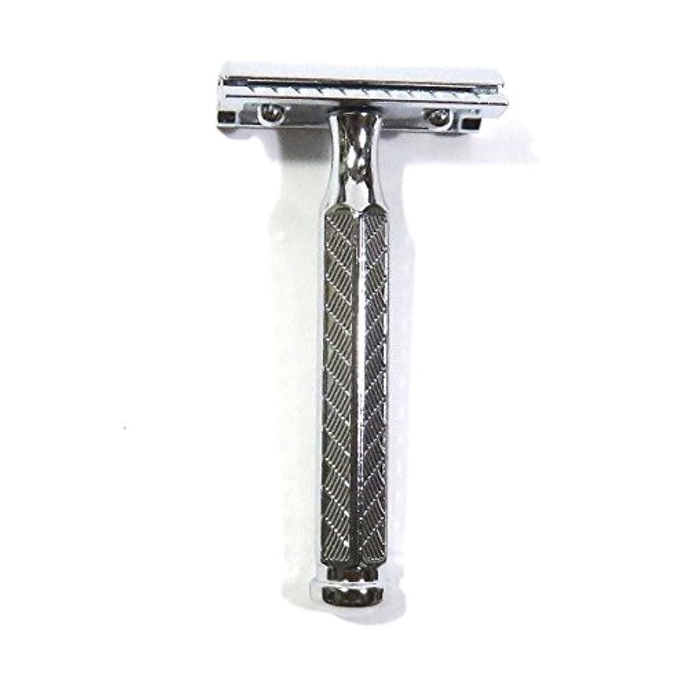 検閲南アメリカバーベキューゾーリンゲン メルクール髭剃り(ひげそり)342 両刃ホルダー(替刃11枚付)   角度調節付?替刃11枚付 プラケース付模様入り六角ハンドル