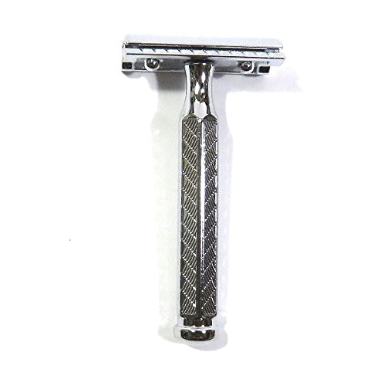 さらにスポーツマンドループゾーリンゲン メルクール髭剃り(ひげそり)342 両刃ホルダー(替刃11枚付)   角度調節付?替刃11枚付 プラケース付模様入り六角ハンドル