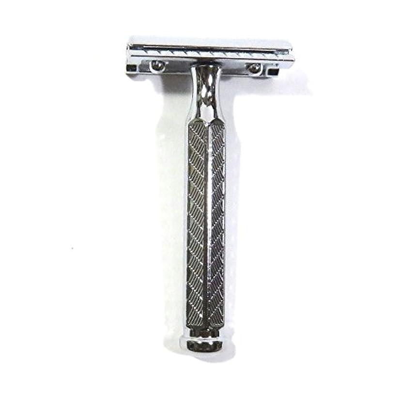 気まぐれな振幅ウルルゾーリンゲン メルクール髭剃り(ひげそり)342 両刃ホルダー(替刃11枚付)   角度調節付・替刃11枚付 プラケース付模様入り六角ハンドル