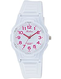 [シチズン キューアンドキュー]CITIZEN Q&Q 腕時計 Falcon ファルコン アナログ表示 10気圧防水 ウレタンベルト ホワイト ピンク VS06-006