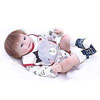 PURSUEBABY 洗える フルボディ シリコンビニール 新生児 ベビードール 20インチ 本物そっくり リボーンドール 髪付き