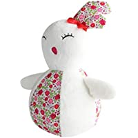 Keaner新生児幼児Roly - Poly Toys Plush Rabbit Rattle人形Ornamentsタンブラー実用的教育玩具(ホワイト)