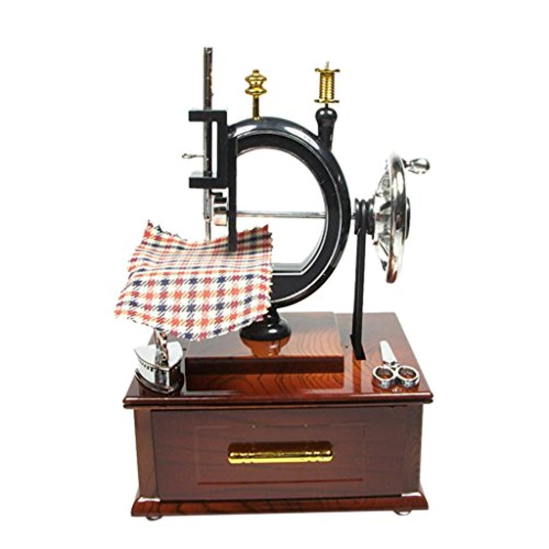 Fenteer 縫製機デザイン 音楽ケース オルゴール 古典的 音楽聴き リラックス 装飾 約20×14.5×12cm