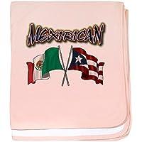 CafePress – MexiRicanフラグ – スーパーソフトベビー毛布、新生児おくるみ ピンク 06140405256832E
