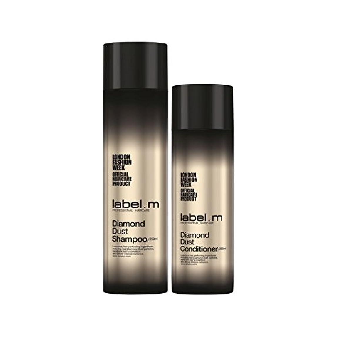トークむしゃむしゃエスカレーターLabel.M Diamond Dust Shampoo And Conditioner Duo - .ダイヤモンドダストのシャンプーとコンディショナーのデュオ [並行輸入品]