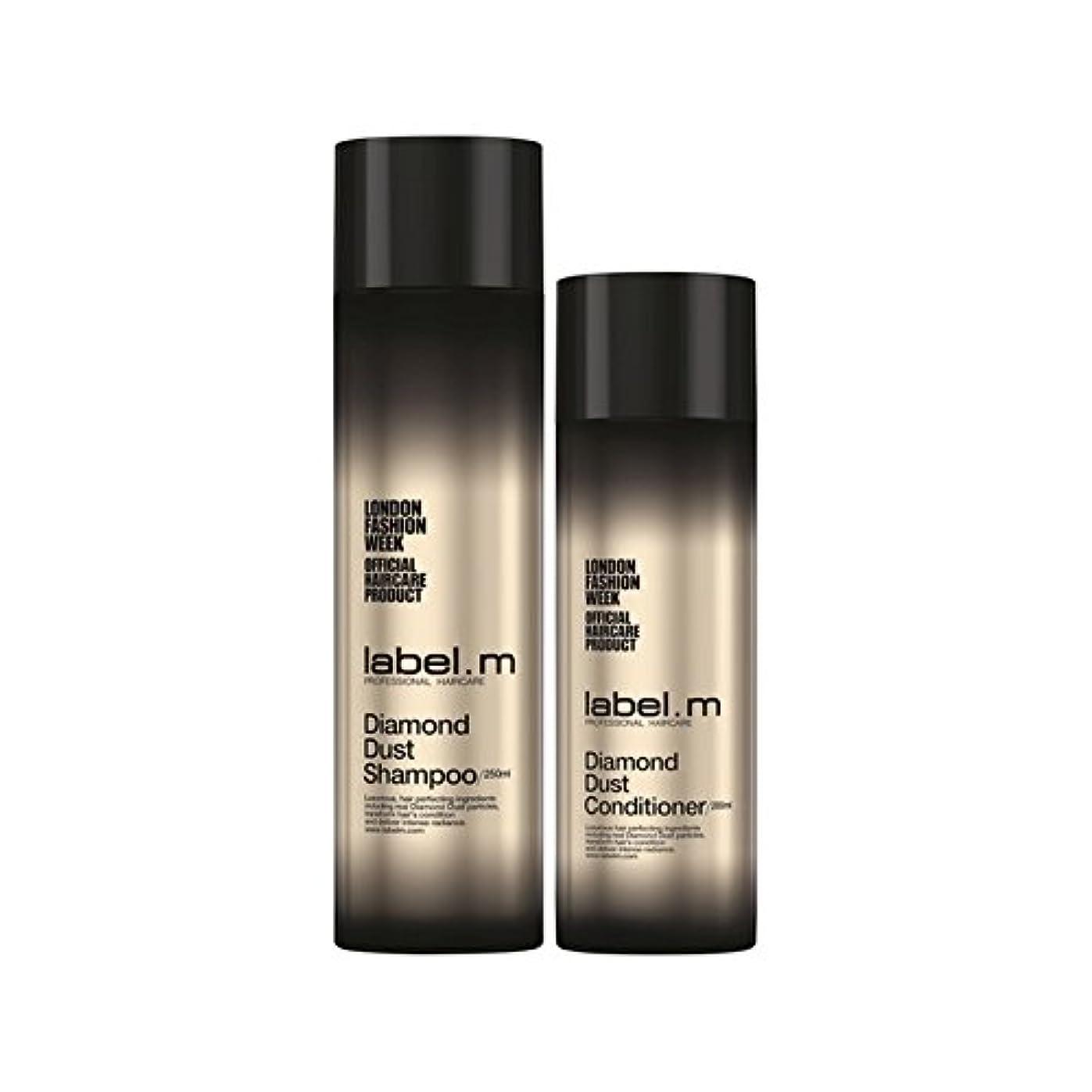 力強いビーズ優雅な.ダイヤモンドダストのシャンプーとコンディショナーのデュオ x2 - Label.M Diamond Dust Shampoo And Conditioner Duo (Pack of 2) [並行輸入品]