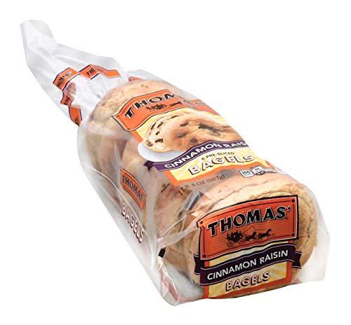 Thomas Cinnamon Raisin Swirl トーマスシナモンレーズンスワールプリスライスベーグル560g [並行輸入品]