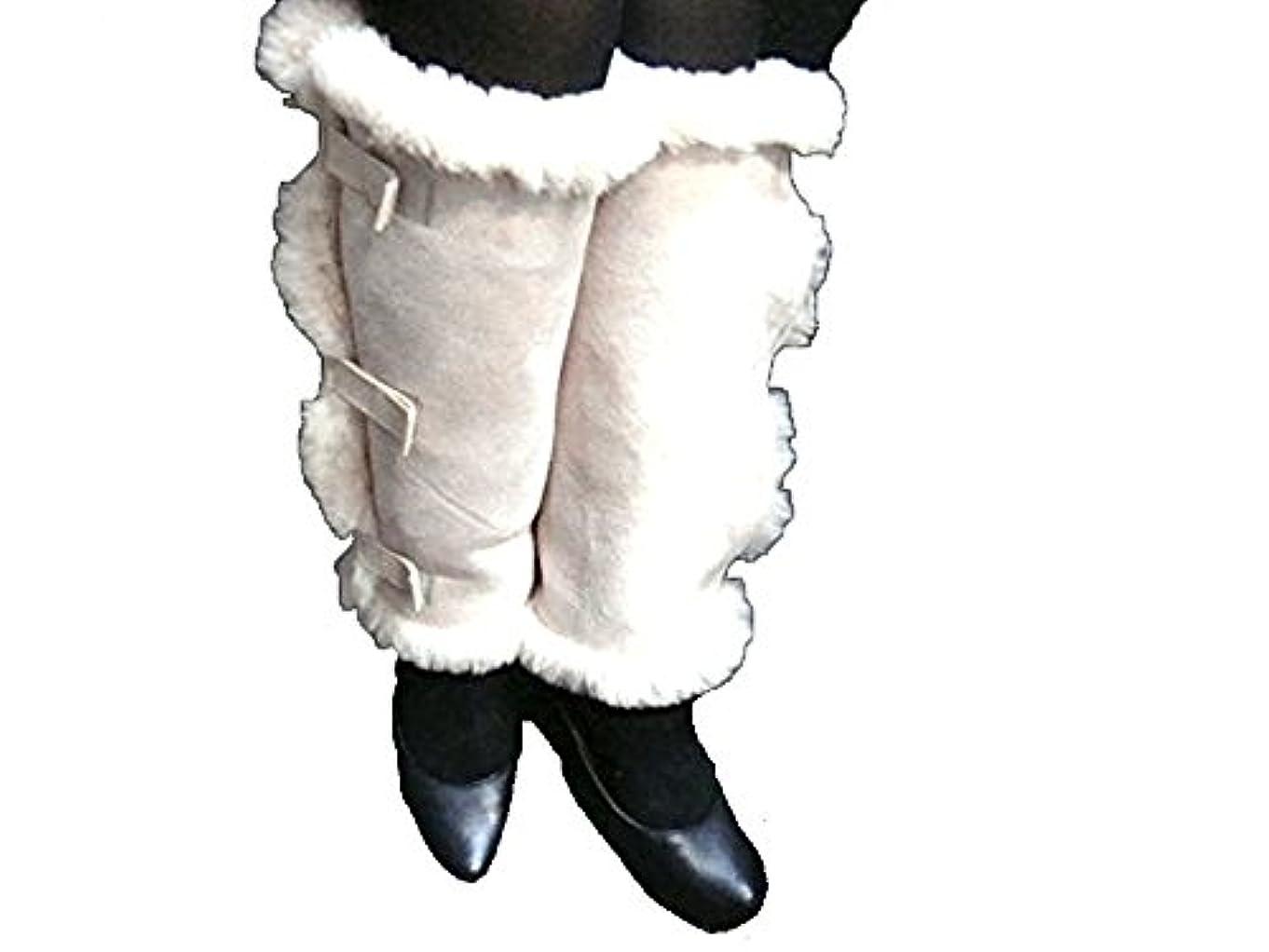 衣類おじいちゃんファシズムFURFURMOUTON ムートン100% あったか ムートン レッグウォーマー 冷え性対策 冷えとり 防寒グッズ 天然素材 オーストラリア産原皮を使用 MD-ML0001