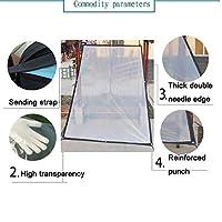 透明プラスチックターポリン厚手の防水防風日焼け止めポンチョバルコニー絶縁ポンチョフィルム(様々なサイズ) (Size : 1*1m)