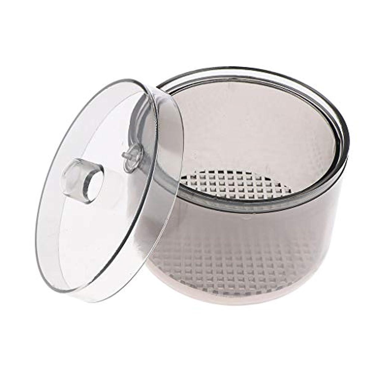 報復強制的甘美なT TOOYFUL 消毒カップ マニキュアツール 滅菌容器 消毒ジャー 丸型 軽量 コンパクト 持ち運び便利 耐高温性
