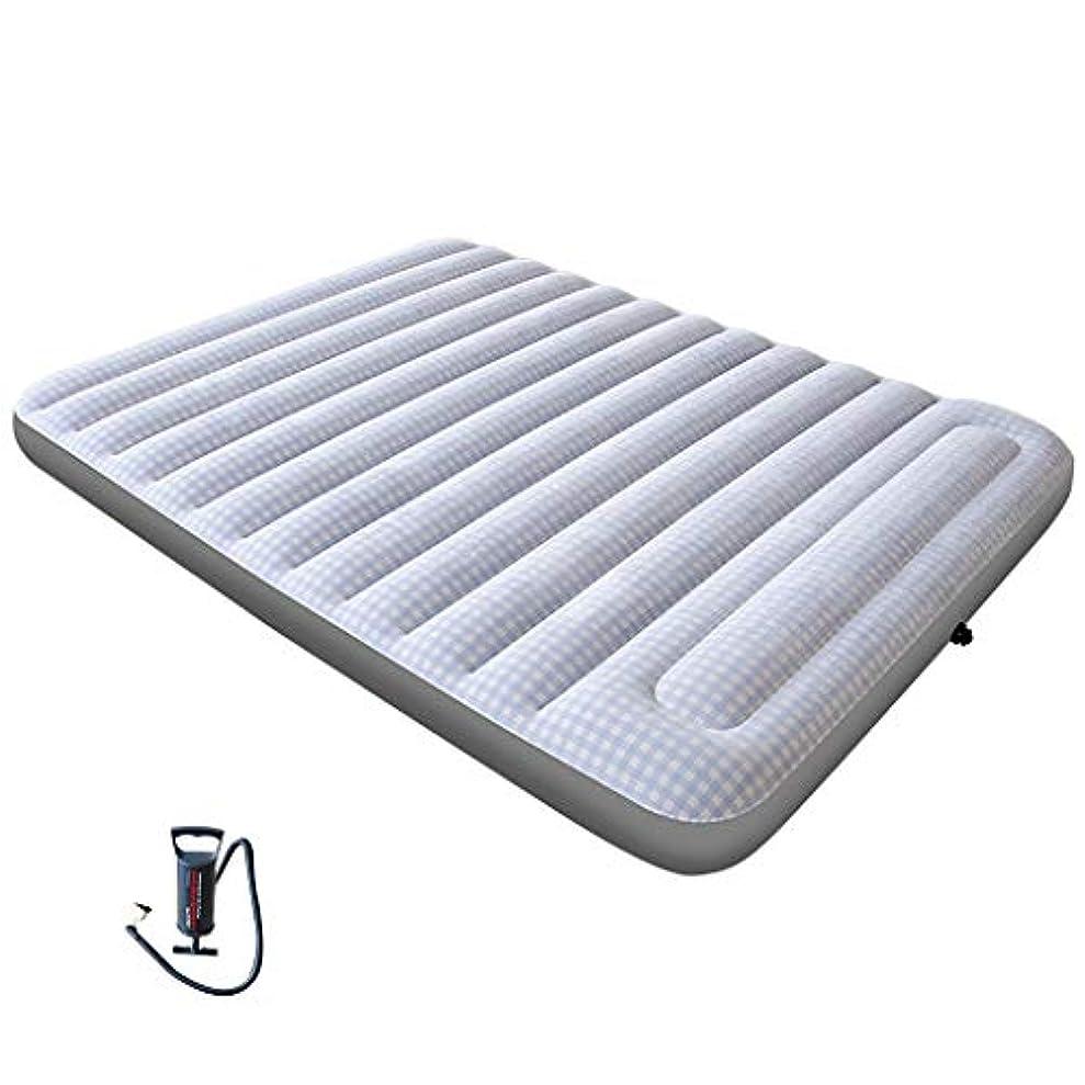 クラブ化粧時々作り付けの枕が付いている膨脹可能なBed Airベッド、コンパクトおよび携帯用エアマットレス、格子は膨脹可能なSを群がらせました跳躍パッド、ハンドプレスインフレーション屋外用防湿マット、屋内および屋外用