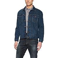 Wrangler Mens Western Style Unlined Denim Jacket Long Sleeve Outerwear - Blue