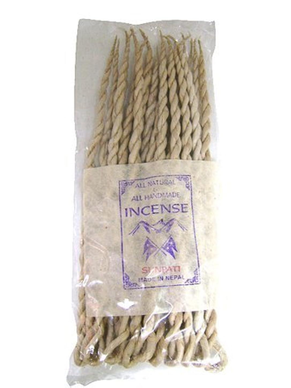 またね脈拍地理NEPAL INCENSE 日本では当店でのみ販売 ネパールの高級ねじり香(ロープ) サンパティ