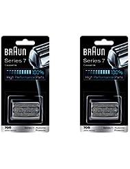 Braun ブラウン シリーズ7/プロソニック対応 網刃?内刃一体型カセット 70S (F/C70S-3と同一品) 2個セット [並行輸入品]