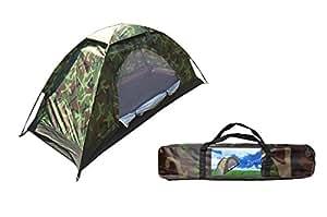 Smile-Life 小さなテント災害緊急母子公園UV保護収納袋[アウトドア用品] Sorotentoテントをキャンプの人々のための迷彩メッシュ蚊帳付き1つのテントコンパクトで 1人用 迷彩