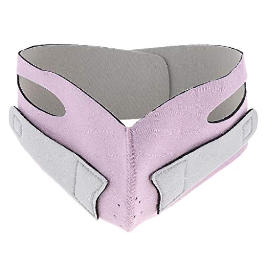 マトンみがきます割り当てます引き上げマスク 頬リフトアップ V-ラインマスク リフティング リフトスリムマスク 通気性 全2色 - ピンク