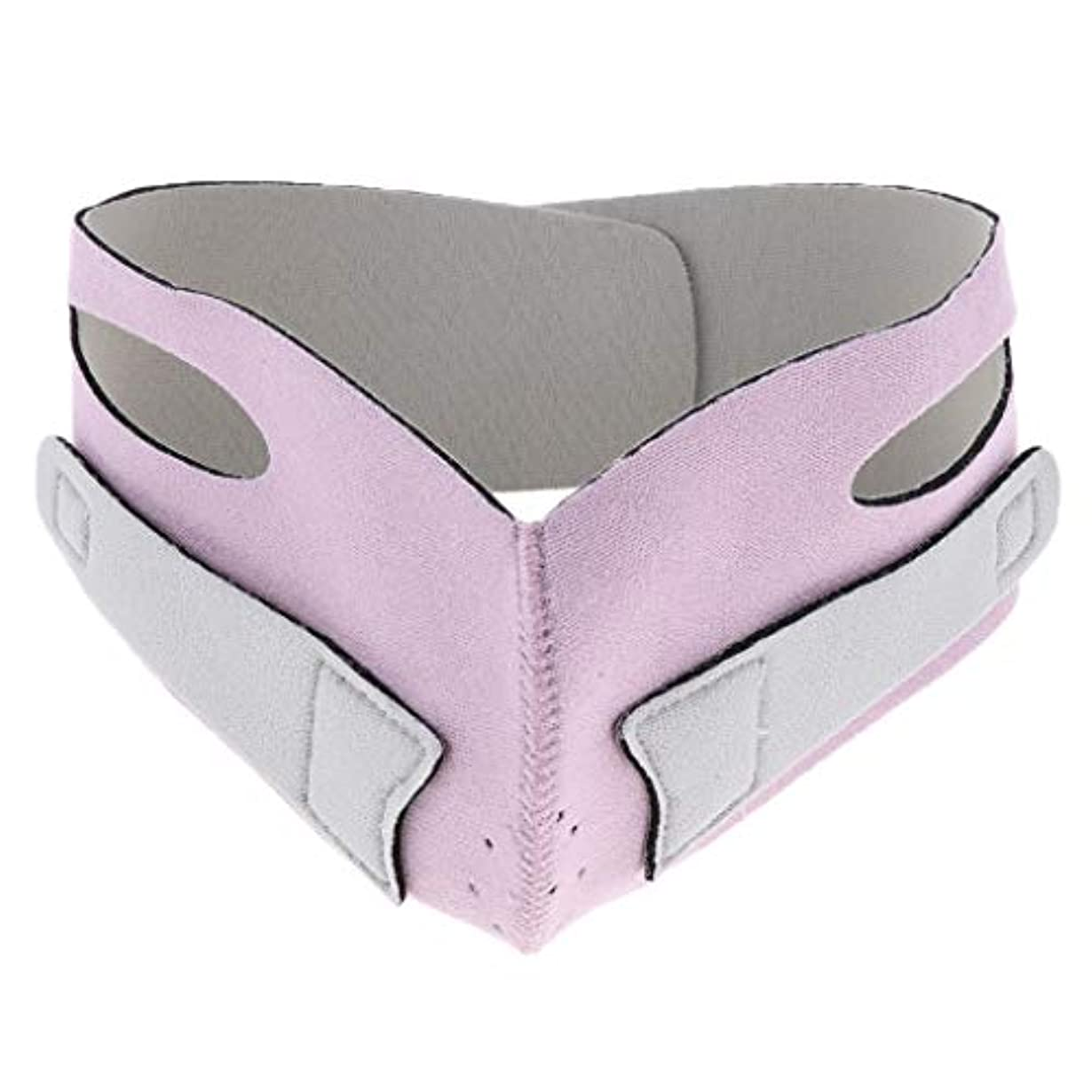 きれいに手数料終わらせる引き上げマスク 頬リフトアップ V-ラインマスク リフティング リフトスリムマスク 通気性 全2色 - ピンク