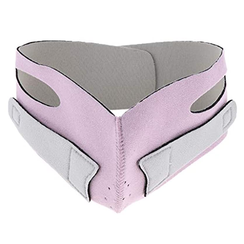 パーチナシティ繊毛使用法D DOLITY 引き上げマスク 頬リフトアップ V-ラインマスク リフティング リフトスリムマスク 通気性 全2色 - ピンク