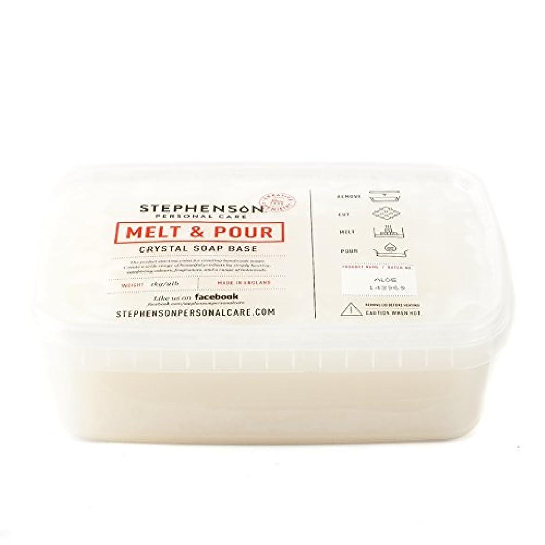争い誠実リブMelt and Pour Soap Base - Aloe Vera - 1Kg