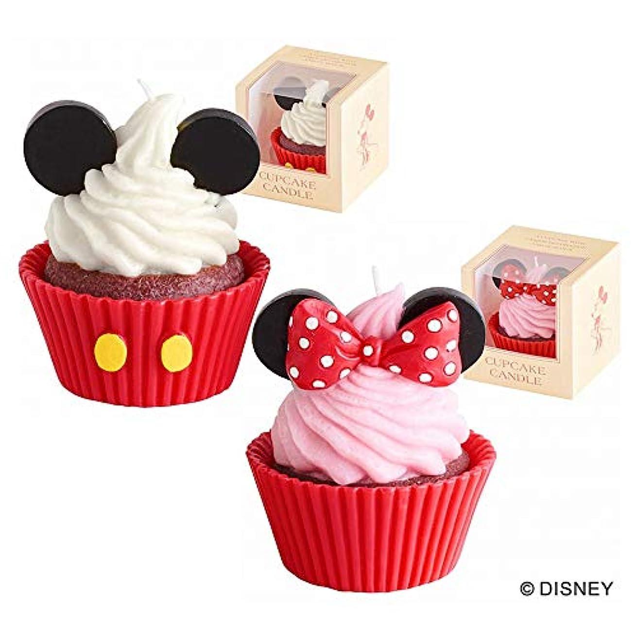 がっかりする羽手錠カメヤマキャンドル(kameyama candle) ディズニーカップケーキキャンドル 「ミッキー&ミニー」