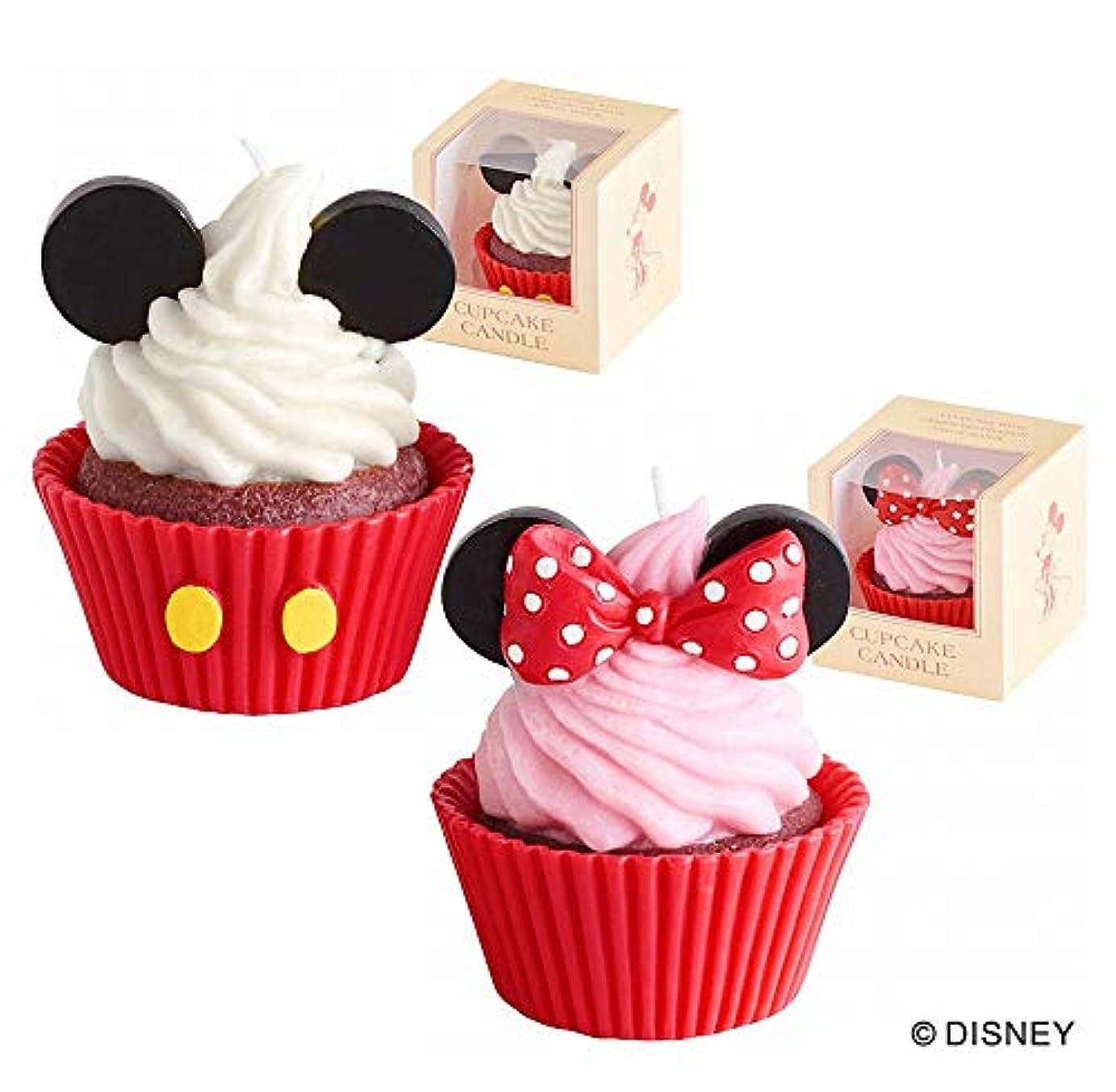 地域のあえて不公平カメヤマキャンドル(kameyama candle) ディズニーカップケーキキャンドル 「ミッキー&ミニー」