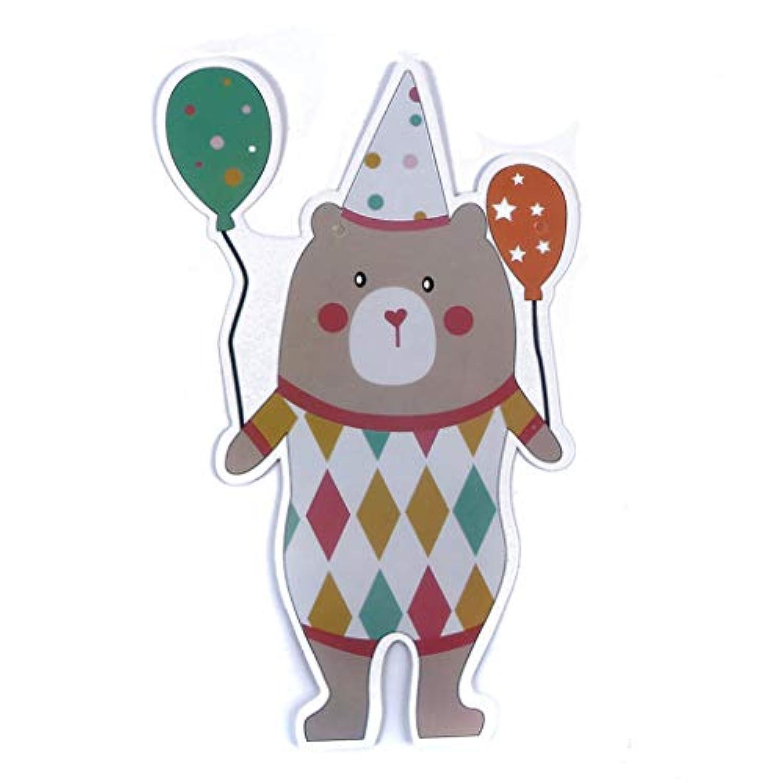 GOMYIE 漫画の誕生日の旗布バナーチェーンベアリース水玉ロゴ装飾誕生日パーティー(クマ)