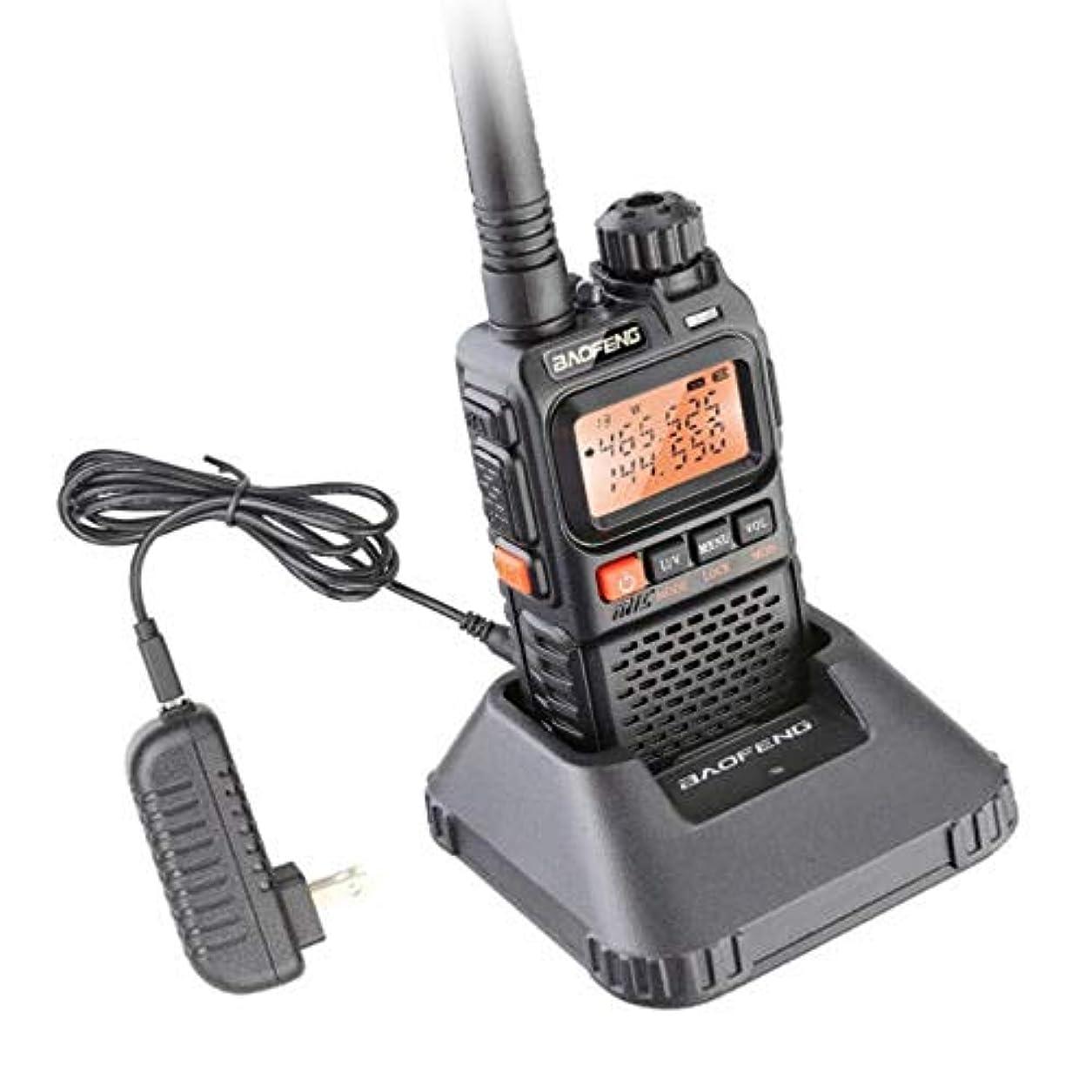 意図的モーテル寛大さETbotu トランシーバー UHF VHF ポータブル懐中電灯 UV 3R+ Ham FMラジオ - USプラグ