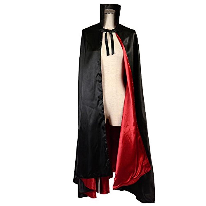 モバイルスローガン力強いanimania 立ち襟ゴシック ロング ドラキュラ マント 衣装 コスチューム コスプレ 男女共用 レッド
