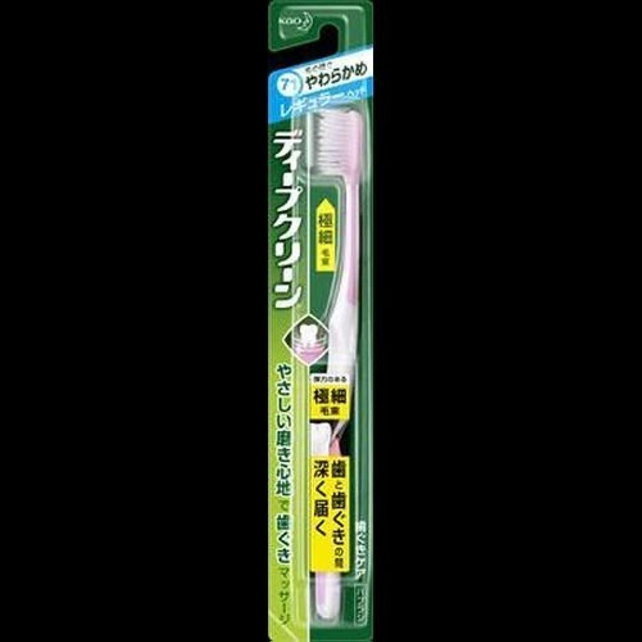 色シャックルを通して【まとめ買い】ディープクリーン ハブラシ レギュラー やわらかめ ×2セット